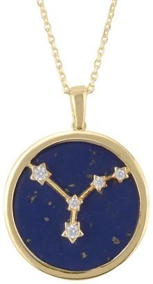 Latelita Zodiac Lapis Lazuli Gemstone Star Constellation Pendant Necklace Gold Cancer