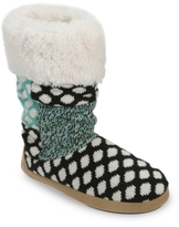 Dearfoams Tall Patchwork Boot Slipper