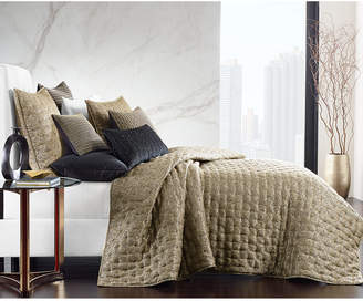 Hotel Collection Linear Chevron Full/Queen Coverlet, Bedding