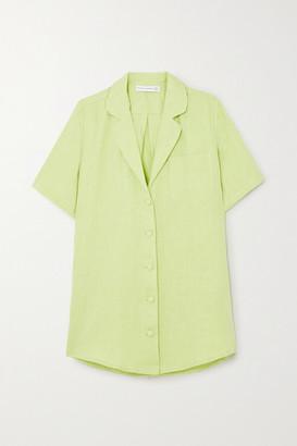 Faithfull The Brand + Net Sustain Charlita Linen Shirt - Lime green