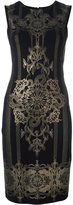 Roberto Cavalli metallic print dress - women - Viscose/Spandex/Elastane - 48