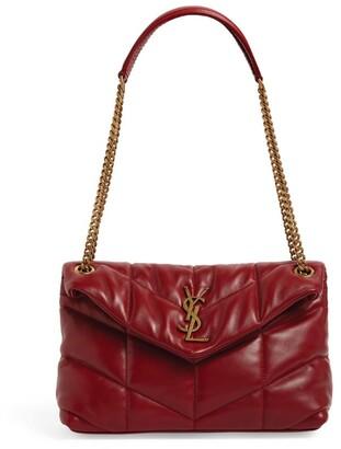 Saint Laurent Leather Puffer Loulou Shoulder Bag