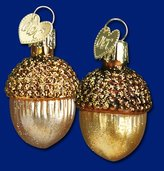 Old World Christmas Small Acorn Glass Blown Ornament
