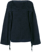 Chalayan ruched jumper - women - Cotton/Polyester - M