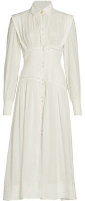 Aje Utopia Long-Sleeve Midi Dress