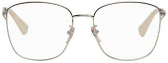Gucci Silver Large Square Glasses