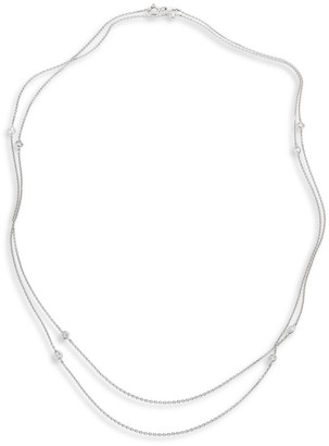 De Beers Clea Sautoir Diamond & 18K White Gold Necklace