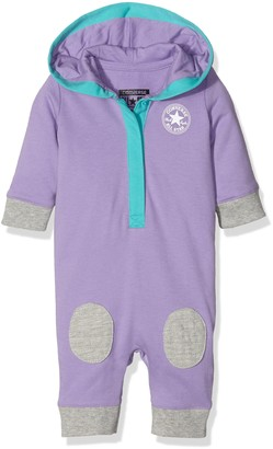 Converse Baby Girls' 0-24m Hooded Coverall Sleepsuit Purple (Frozen Lilac) 9-12 Months (Size:9-12M)