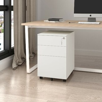Hambly 3-Drawer Vertical Filing Cabinet Symple Stuff Color: White