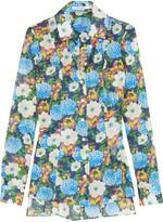 Carven Floral-print cotton-voile shirt