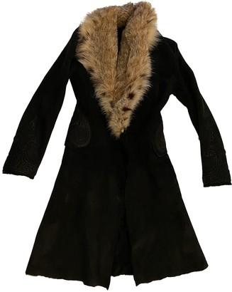 Ermanno Scervino Black Suede Coat for Women