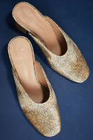 Anthropologie Velvet Sweetheart Mules