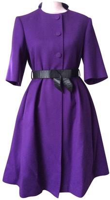 Fendi Purple Cashmere Coats