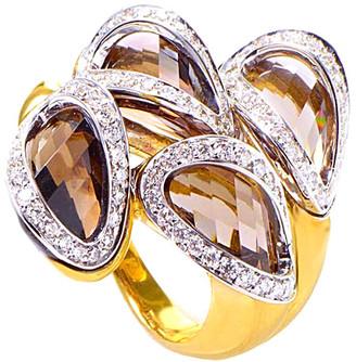 Superoro 18K Two-Tone 11.15 Ct. Tw. Diamond & Topaz Ring