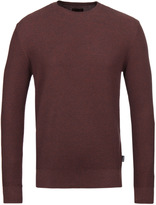 Barbour Irwin Rust Ribbed Knit Crew Neck Sweater