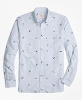 "Brooks Brothers 1818"" Pennant Stripe Oxford Sport Shirt"