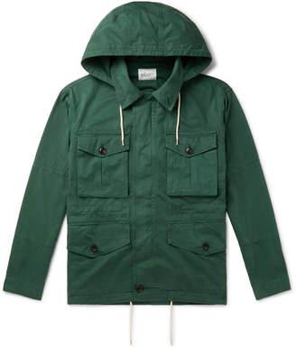 Albam Cotton-Gabardine Hooded Field Jacket