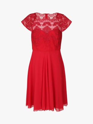 Chi Chi London Curve Simoniar Dress, Red
