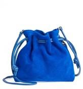 Clare Vivier Petite Henri Suede Bucket Bag - Blue