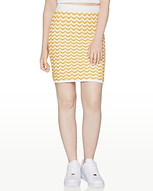 BCBGeneration Chevron-Knit Mini Skirt