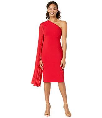 Tahari ASL Women's Pleated One Shoulder Party Dress