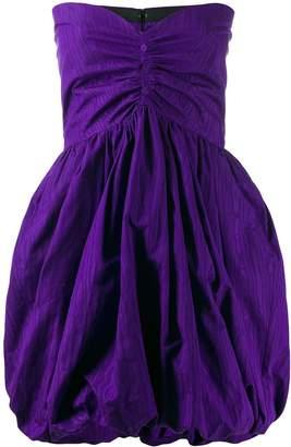 MSGM strapless ruched mini dress