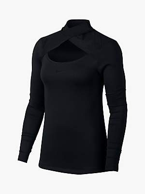 Nike Pro Warm Mesh Long Sleeve Top, Black