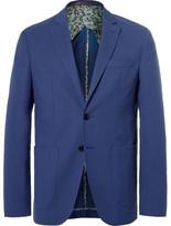 Etro Blue Wool and Cotton-Blend Blazer