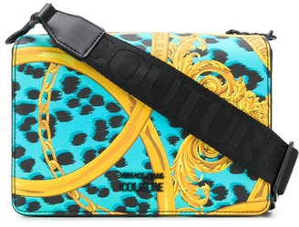 Versace baroque-print branded shoulder bag