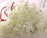 FatColo Mini Artificial Silk Flower Bouquet, White (12 Piece)