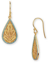 Argentovivo 18K Goldplated Sterling Silver Chain Foliage Drop Earrings
