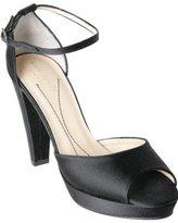 black satin 'Gretchen' platform pumps