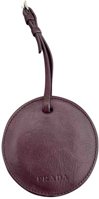 Prada Purple Leather Bag charms