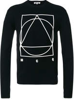 McQ long sleeved motif sweater