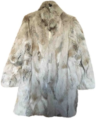 Adrienne Landau Beige Rabbit Coat for Women