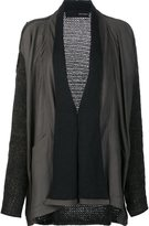Isabel Benenato draped cardigan - women - Leather/Acetate/Mohair/Polyimide - 42