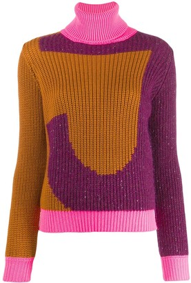 Just Cavalli Roll Neck Logo Sweater