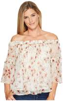 Lucky Brand Shirred Off Shoulder Top