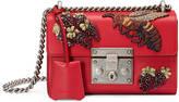 Gucci Padlock embroidered shoulder bag