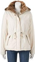 Juniors' Coffee Shop Hooded Twill Jacket