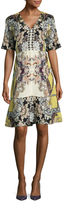 Etro Silk Printed A-Line Dress