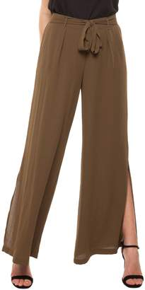 Dex Wide-Leg Side-Slit Pants