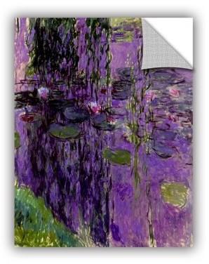 ArtWall Lavender Water Lillies Removable Wall Art Mural