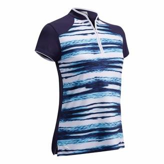 Callaway Women's Ss Water Ripples Scu Polo Shirt