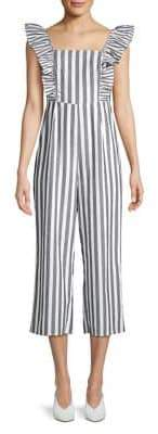 The Fifth Label Pastel Heights Flora Striped Jumpsuit