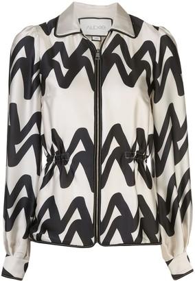 Alexis Kacey zipped blouse