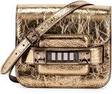 Proenza Schouler PS11 Tiny Metallic Satchel Bag, Gold