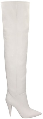 Strategia High Heels Boots In White Leather