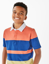 Marks and Spencer Cotton Colour Block Rugby Top (6-16 Years)