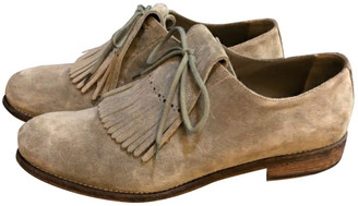 Burberry Beige Suede Lace ups